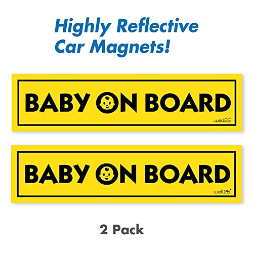 Caution baby on board driver license plate frame