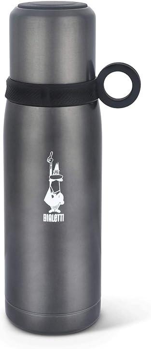 Bialetti tz ml.460 to go bottiglia termica con coperchio-tazza mantiene il caldo per 12 h e freddo 24h DCXIN00006