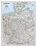 National Geographic: Germany Classic Wall Map (23.5 x 30.25 inches) (National Geographic Reference Map)