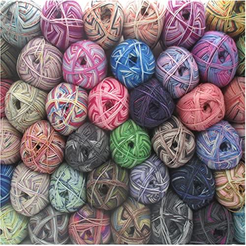 Sockenwolle Strumpfwolle Color 4-fach -10x100gr Strumpfwolle bunt sortiert