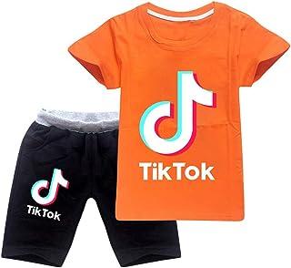 Conjunto de camiseta y pantalones de niño TIK Tok, unisex, conjunto de ropa para niños