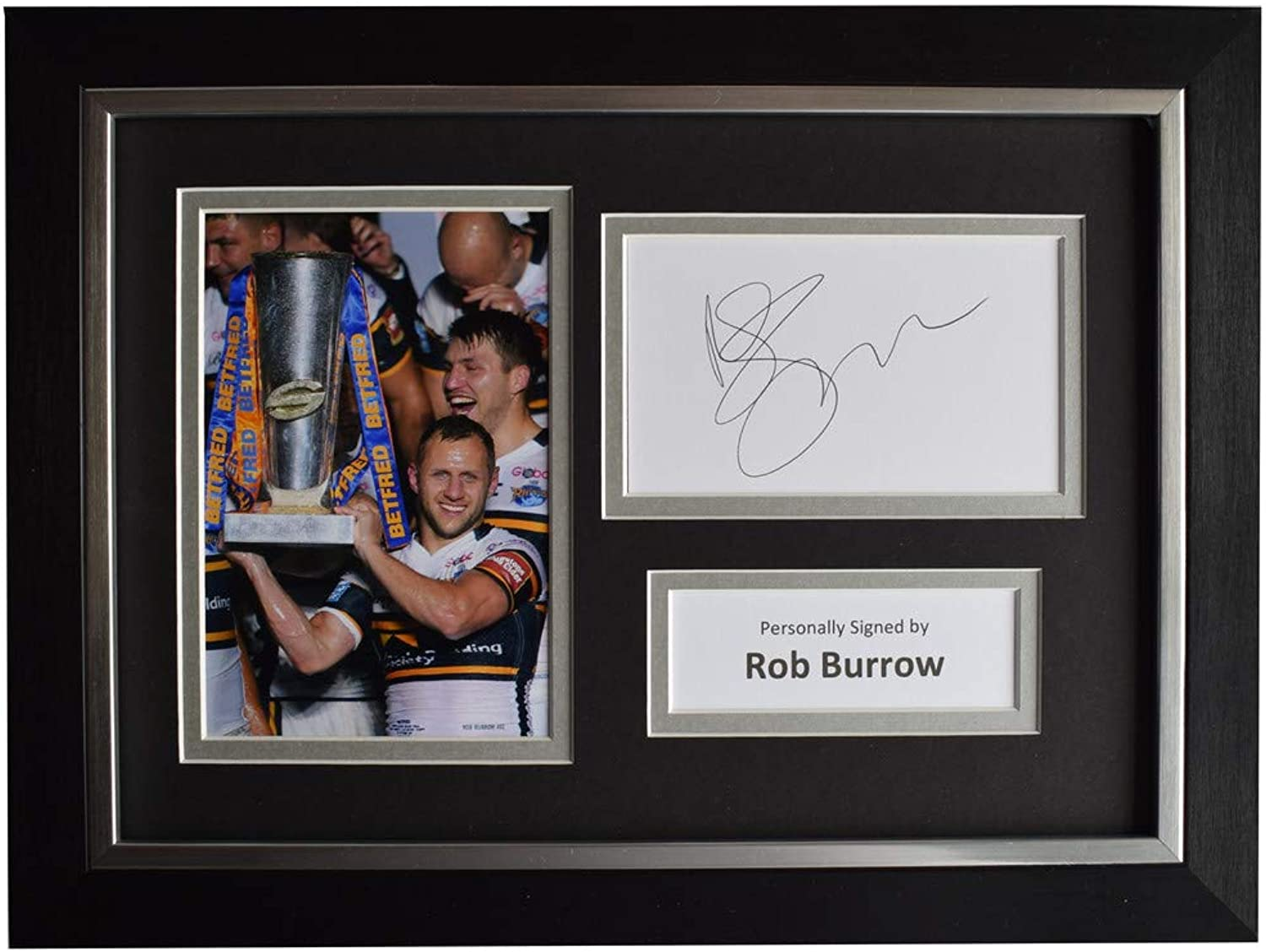 Sportagraphs LTD Rob Burrow Signed A4 Framed Autograph Photo Display Leeds Rhinos AFTAL & COA