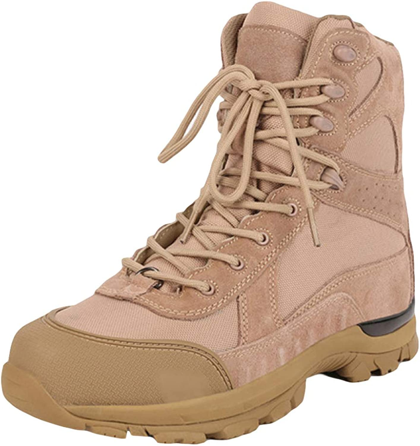 Boots Men's Chukka Martin Boots Desert Tactical Booties High Top Snow Boots Hiking Work Boots Lace-up Boots