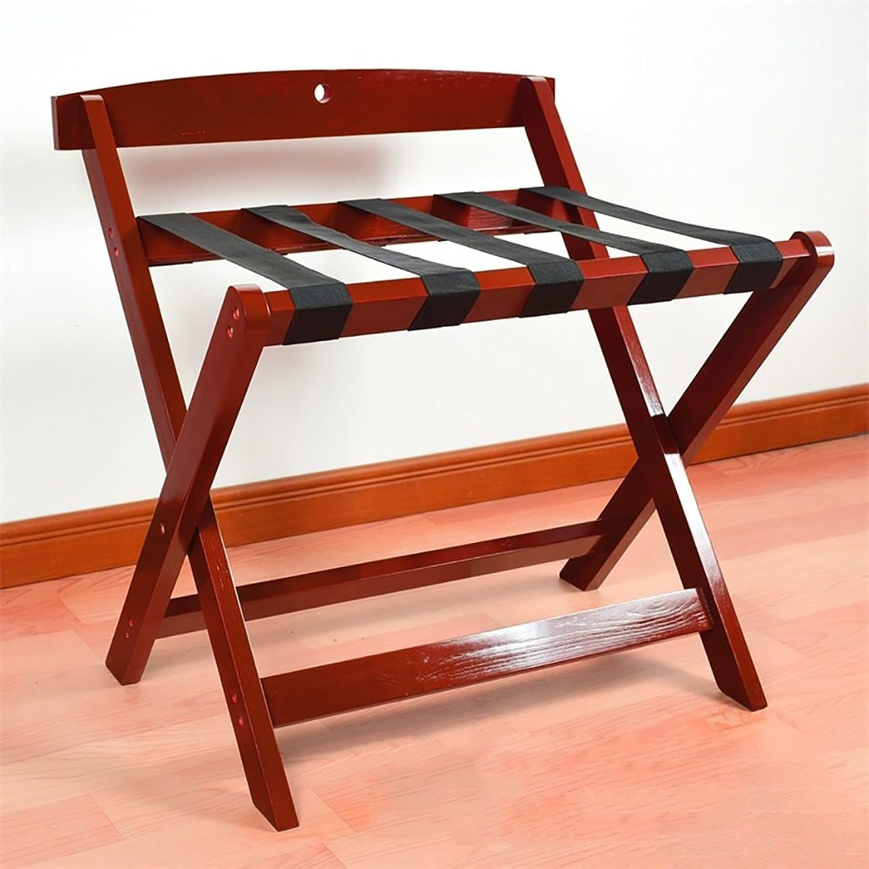 JHXLJ Kofferablage Kofferhalter Reisetaschenhalter Holz Gepäckregale Hotel Furniture Landing Regal Maroon (größe   60  50  65cm) B07F736VJZ