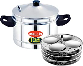 IBELL Idly Cooker Stainless Steel, Idli Maker with 4 Plates ( 16 Idlies)