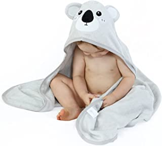Luxury Super Soft 100% Bamboo Koala Baby Hooded Towel - Absorbent Baby Towels with Hood For Boys and Girls - Baby Bath Tow...