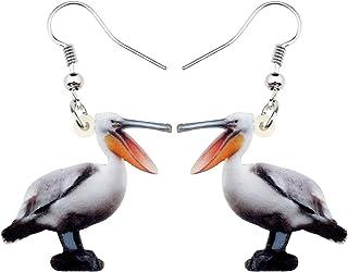 DUOWEI Acrylic Colorful Australian Galah Parrot Earrings Birds Dangle Drop Classic Animal Jewelry Gifts For Women Girls