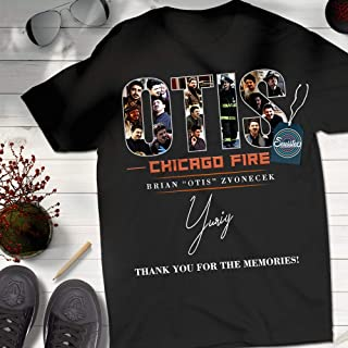 Otis-Chicago Memories Fire Thank-You Shirt Firefighter Gifts Customized Handmade Short Sleeve Premium Short Sleeve Long Sleeve Hoodie Sweatshirt Adult Tank