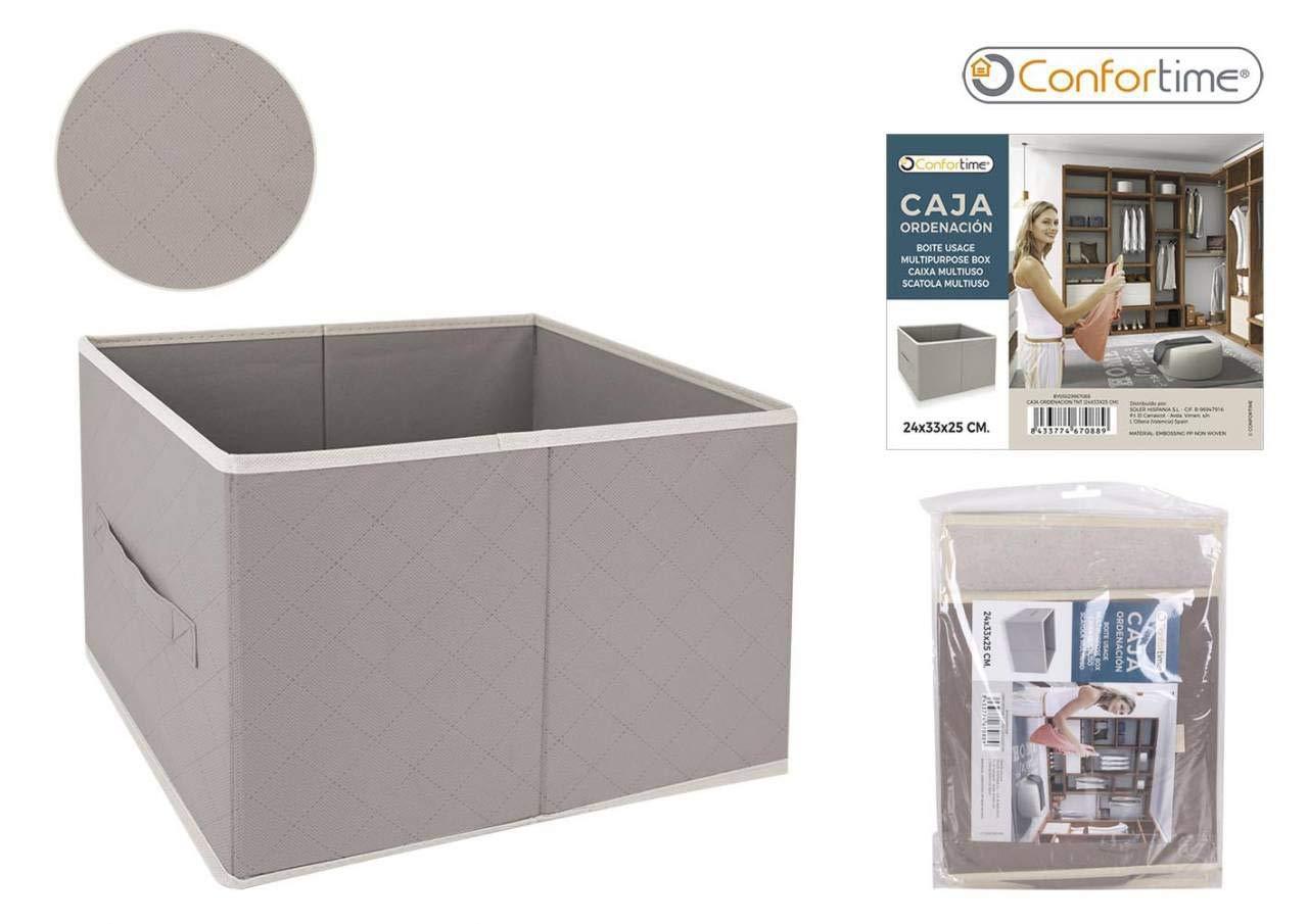 CONFORTIME Caja Ordenación TNT, 24 x 33 x 25 cm, Textil, Talla Unica: Amazon.es: Hogar