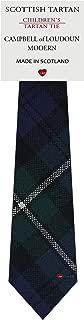 Boys Clan Tie All Wool Woven in Scotland Campbell of Loudoun Modern Tartan