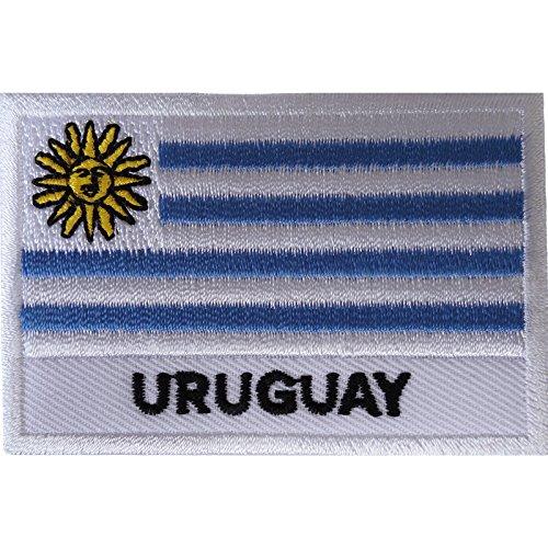 Uruguay-Flagge zum Aufbügeln oder Aufnähen auf Hemd, Kleidung, Südamerika, besticktes Abzeichen