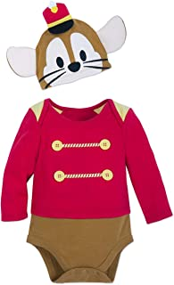 Disney Timothy Mouse Costume Bodysuit with Cap for Baby - Dumbo Size 12-18 MO Multi
