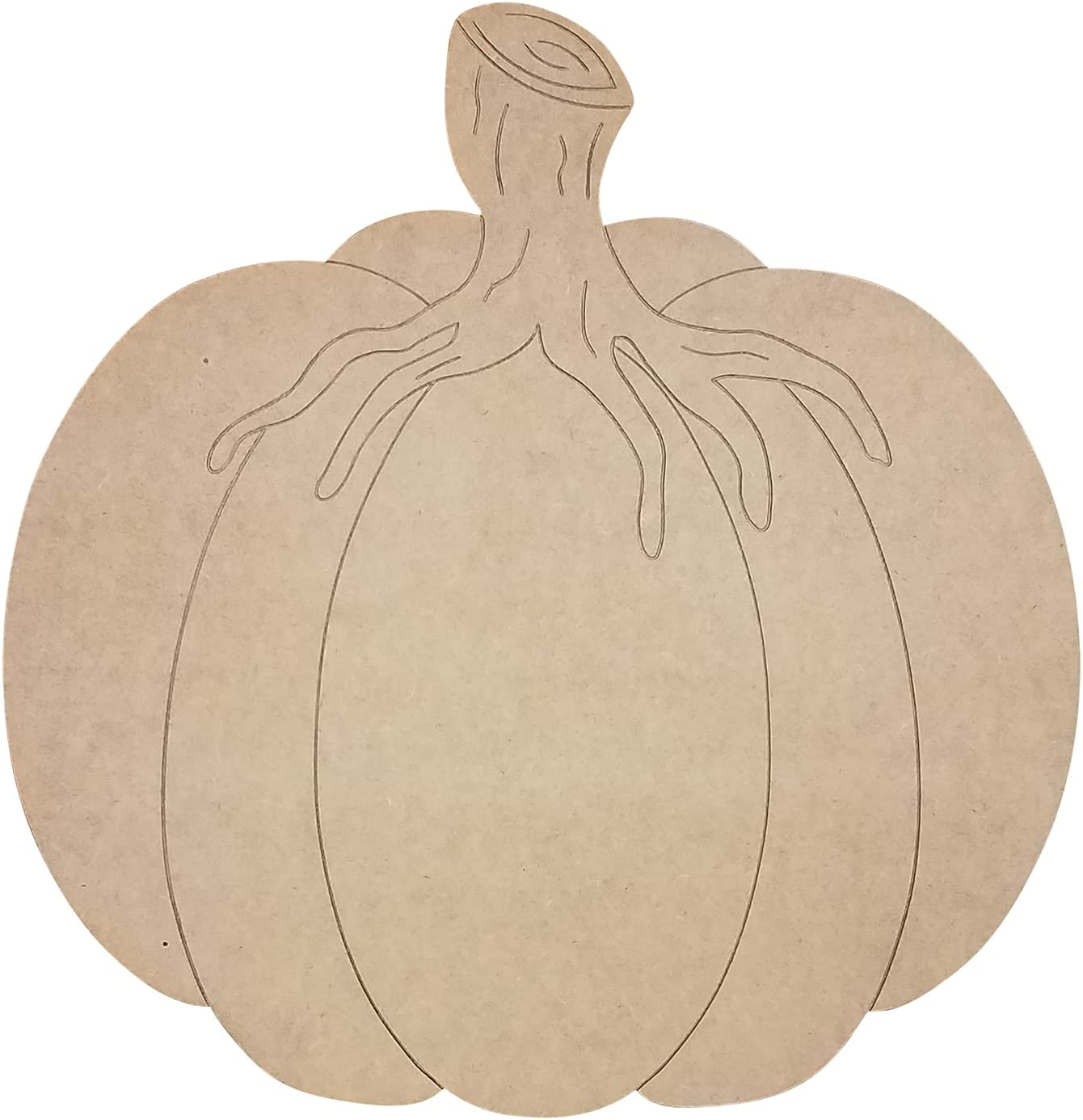 Oakland Mall Unfinished Wooden Pumpkin Spring new work with Fat Stem Wreath Decor Fall