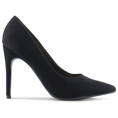 651ff71bd6d5 Wide-Fit Womens Pointy Toe High Heels Stiletto Dress Pumps