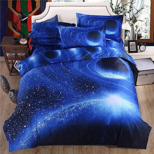 Bedclothes-Blanket Copripiumino neonata,Biancheria da Letto a Quattro Pezzi Singoli stellati 3D-V_2,0 m Letto (20 * 230 cm)