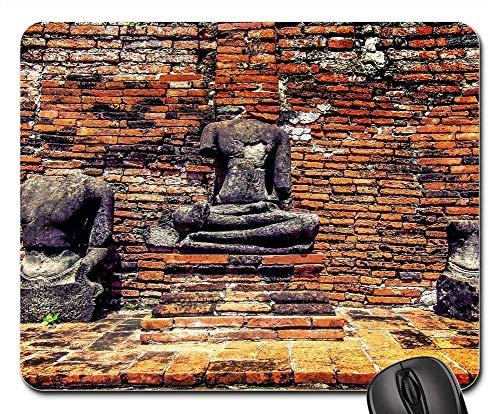 Mauspad - Statue Backstein Alter Tempel Skulptur Stein Asien