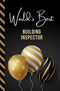 World's Best Building Inspector: Greeting Card and Journal Gift All-In-One Book! / Small Lined Composition Notebook / Birt...