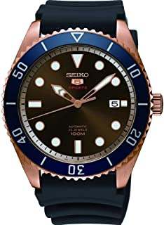 Seiko Series 5 Automatic Brown Dial Mens Watch SRPB96