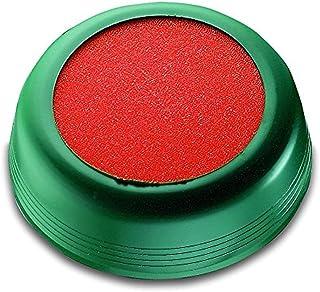Läufer 69238 Luchtbevochtiger, voor het bevochtigen van brieven of postzegels, rond, Ø 10,5 cm, flexibele groene hoes, ora...