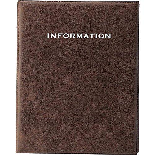 インフォメーション レザータッチ (A4 4穴) 【IF-171】ブラウン (本体のみ) [えいむ ホテル インフォメーションブック リング バインダー]
