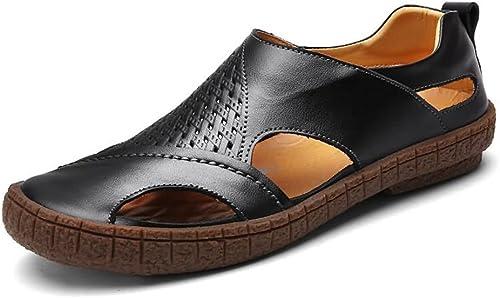 Sandales Hommes Pour des hommes Talon Plat Creux Couleur Unie Unie Unie Sandale à Bout fermé Slip on chaussures Sandales extérieures pour Hommes Confortable da2