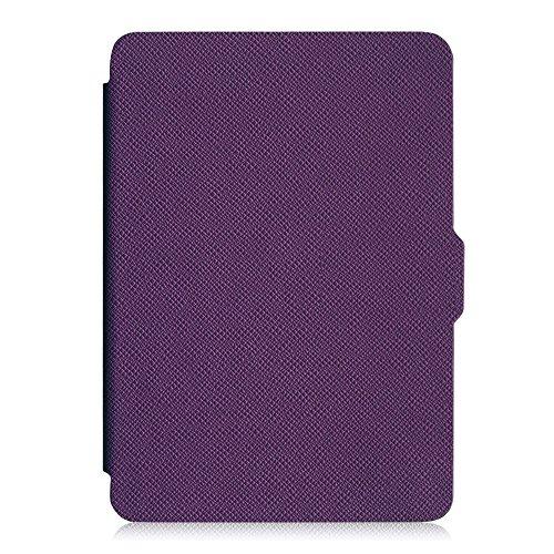 Fintie Hülle für Kindle Paperwhite - Die dünnste und leichteste Schutzhülle mit Auto Sleep/Wake Funktion (Nicht geeignet für das Modell der 10. Generation 2018), Violett