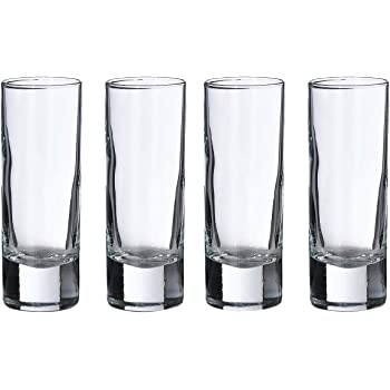"Lillian Rose Set of 4 Tall Shot Glasses, 4"", Clear"