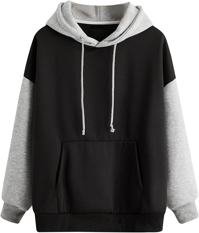 UOCUFY Hoodies for Women, Women Girls Long Sleeve Sweatshirts Casual Loose Cute Printed Pullover Tops Sweaters