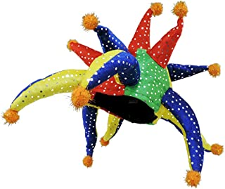 Multi Color Sequined Horned Jester Party Hat