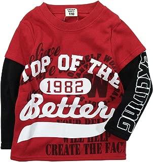 《秋冬对应》SHORH KID'S(展开儿童)T/C内起绒 商标分层式运动衫 NO.SD-23284 [対象] 72ヶ月 ~ 红色 120