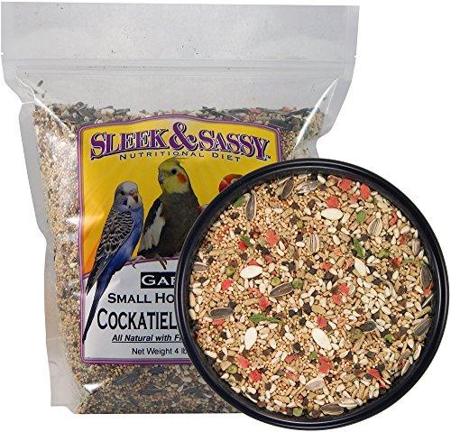 SLEEK & SASSY NUTRITIONAL DIET Garden Small Hookbill Bird Food for Cockatiels, Lovebirds, Quaker Parrots & Small Conures (4 lbs.)