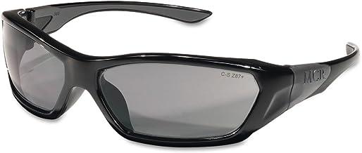 Óculos de segurança ForceFlex FF122 da Crews armação preta, lentes cinza
