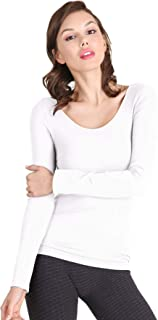 Women Seamless Long Sleeve Scoop Neck Top, One Size