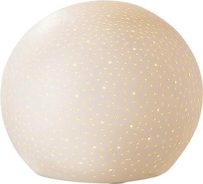 Gilde Lampe Firmament - Porcelaine - Motif de Trous D 18 cm