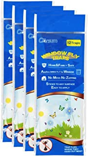 Garsum Fly Clear Window Glue Traps Fly Killer Window Decal Non-Toxic Insect Trap