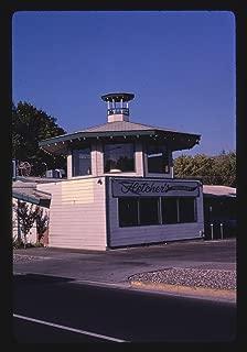 Vintography 16 x 24 Gallery Wrapped Framed Art Canvas Print of Fletcher's Restaurant, Yakima, Washington 1987 Roadside Americana Ready to Hang 04a