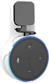 ProCase Outlet Wall Mount Hanger Stand for Amazon Echo Dot 2nd Generation, No Messy Wires or Screws, Compact Space-Saving Holder Plug in Bathroom Bedroom and Kitchens –White