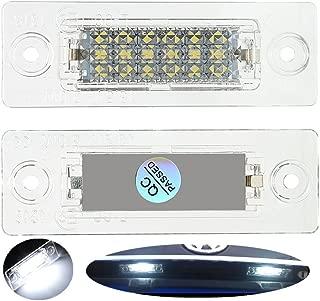 Lightdu License Plate Light LED Lamps Assemblies for Skoda Superb VW Caddy Golf Plus Jetta Passat Cimousint Touran Passat Combi Variant Transpiarte(2Pcs)