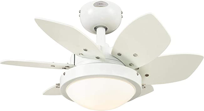 Westinghouse Lighting 7224700 Quince Indoor Ceiling Fan With Light 24 Inch White Amazon Com