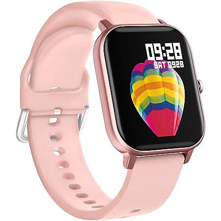 BINDEN Smartwatch P8 Oxímetro, Ritmo Cardíaco, Pantalla Touch, Multicarátulas, Salud y MultiDeportes iOS/Android, Rosa Completo