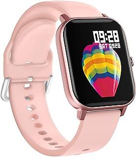 BINDEN Smartwatch P8 Oxímetro, Ritmo Cardíaco, Pantalla Touch, Multicarátulas, Salud y MultiDeportes iOS/Android, Rosa Com...