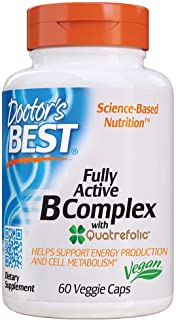 Doctor's Best Fully Active B Complex, Supports Energy, Nervous System, Optimal Health, Positive Mood & Well-Being, Non-GMO...