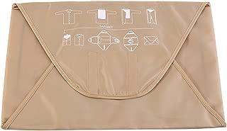 Prevent Wrinkles Shirt Storage Bag Travel Portable Folding Anti Crease Shirts Pants Clothing Packing Storage Organizer(Khaki)