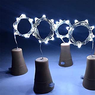1M LED Garland Copper Wire Corker String Fairy Lights Glass Bottle Stopper String Lights Solar Copper Wire Lamp Decoration White