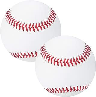 XJSGS Baseballs Competition Grade Youth Baseballs Official League Recreational Use Baseballs 9 inch Autograph Baseballs C-Level First Layer Cowhide Baseball (2-Pack)