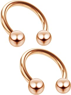 Best rose gold septum horseshoe Reviews