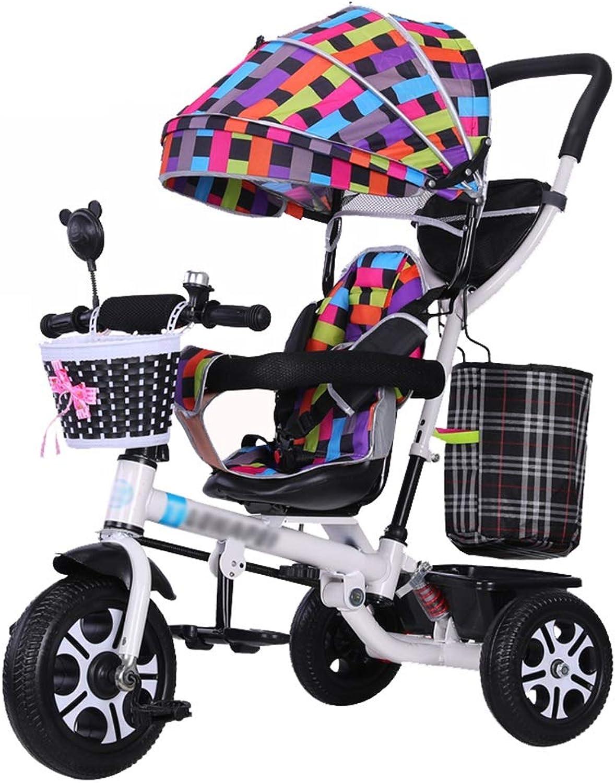 envío gratis Cochecito Infantil Trike Parent Triciclo de de de Empuje para Niños con Asiento Giratorio de 360 ° y arnés de Seguridad para bebés de 6 Meses a 5 años  precio razonable