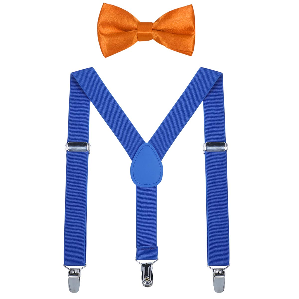 Kids Suspender Bow Tie Sets Adjustable Braces With Bowtie Gift Idea for Boys and Girls by WELROG Black