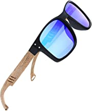 SKADINO Bamboo Sunglasses with Polarized lenses-Handmade Wood Shades for Men&Women-Polished SD6003