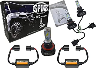 Spike LED Headlight High/Low Bulbs 4000 Lumens For Polaris UTV 33-1310